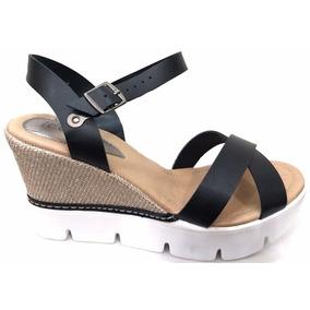 Zapatos Tipo Cuña Con Taco De Yute - Sandalias de Mujer Negro en Bs ... cfe48a67866