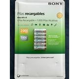 Pilas Recargables 6 Pzs. Aa Sony Ni-mh Hechas En Japón