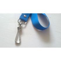 Porta Gafete De Color Azul Rey Polipropileno O Popotillo