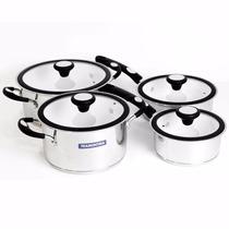 Batería De Cocina Tramontina Solar Ceramic 8 Pz Triple Fondo