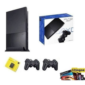 Playstation 2 Slim Destravado + 2 Manetes + M.card 16 + 10jg