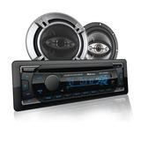 Paquete Estereo Carro Coche Bluetooth 2 Bocinas Control Cd