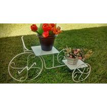 Suporte Para Vaso/planta Linda Bicicleta Em Ferro Decorativa