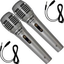 Par De Microfones Profissional Metal Com Fio Unidirecional