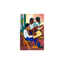 Pintura Arte Art Class Three Men 1939 Art, 15 X20