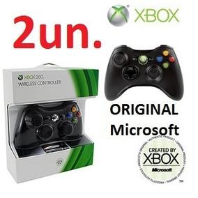 2un. Controle Xbox360 Original Microsoft Sem Fio Novo