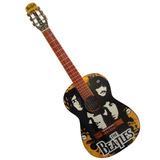 Kit Guitarra Estampada Beatles Accesorios Incluidos Oferta