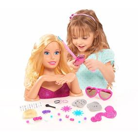 Barbie Cabeça Da Boneca Para Pentear/maquiar/fazer As Unhas