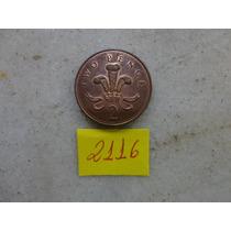 M - 2116 - Moeda Inglaterra 2 New Pence!!!