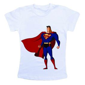 Camiseta Infantil Personalizada Superman Super Homem Cm325
