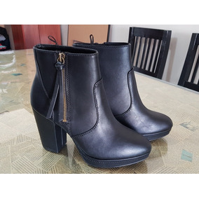 Zapatos H&m De Mujer Botitas De Cuero Importadas