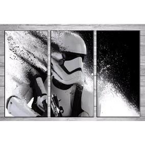 Stormtrooper Star Wars Cuadros Tripticos Modernos Murales