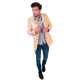 Trench Impermeable Hombre Slim Fit Julie Beige! - Tiki Limbo