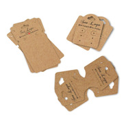 Tags Bijuterias Kit Com 3 Modelos Personalizados 100 Peças
