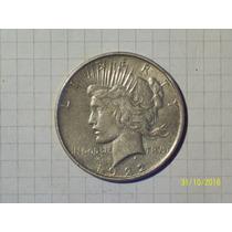 Estados Unidos Dólar De La Paz 1922 Plata 22,6 Gr