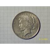 Estados Unidos Dólar De La Paz 1922 Plata 27 Gr