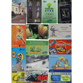 Ct-07 Lote 15 Cartões Telefônicos Brasil