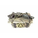 Porta Jóias Xerife Pistola Revolver Country Importado