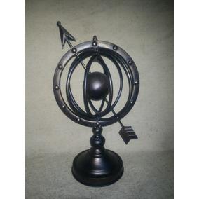Astrolabio Esfera Armilar De Metal!! Muy Decorativo 45cmalto
