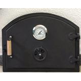 Puerta De Fundicion+reloj De Temperatura+chimenea+lanzallama