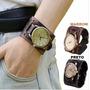 Relógio Bracelete Masculino De Pulso,pulseira Larga De Couro