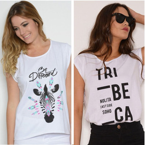 Combo X 2 Remeras Mujer (tribeca + Be Different Beige)