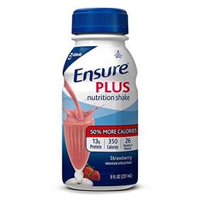 Ensure Plus Nutrition Shake, Fresa, 8 Onzas, 24 Unidades