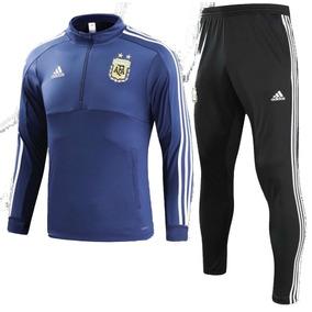 Conjunto Seleccion Argentina Azul Buzo + Pantalon 2018