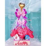 Cesta Chocolates Com Urso De Coração Namorada Mãe Madrinha
