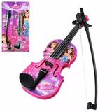 Instrumento Musical Violino Infantil Estampa Princesa Barbie