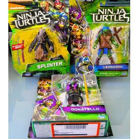 @t Tartarugas Ninjas 3 Bonecos Do Filme Splinter Leo Doni