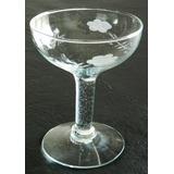 Antigua Copa Champagne Cristal Tallada Vidrio Zona Congreso