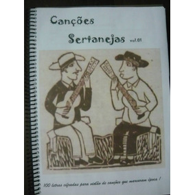Caderno-pasta De Músicas Sertanejas* Cifradas Para Violão