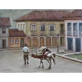 Quadro Pintura Óleo Original Casario Ouro Preto 28x36cm