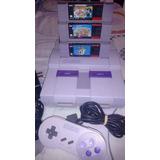 Consola Super Nintendo Snes Con 3 Juegos Mario Bros