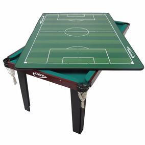 Mesa De Jogos 4 Em 1 Sinuca Ping Pong Futebol Botão Klopf Nf