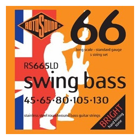Encordoamento Rotosound Rs665ld Swing Bass Baixo 5 Cordas