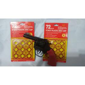 Arma 1 Revolver De Brinquedo + 2 Cartelas De Espoletas