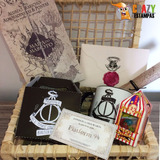 Kit Harry Potter D - 8 Itens Com Carta + Cesta + Feijões M.