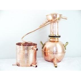 Destilador Caseiro Em Cobre 4 Litros Fabricacao Cachaças