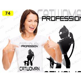 Baby Look Mulher Gato Cat Bat Girl Coringa Batman She Hulk