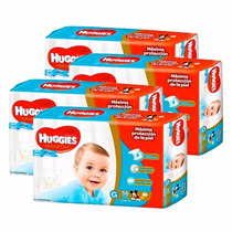 4 Pañales Huggies Natural Care P/ellos Superpack G 56u