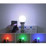 Lampada Muda De Cor Com Controle Lampada Led Colorida 9w E27