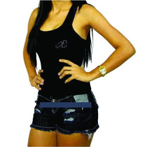 Shorts Jeans Rasgado - Várias Cores