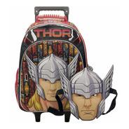 Mochila Avengers Carro Carrito C/mascara Varios Modelos 16''