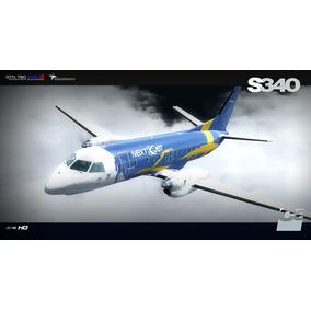Aeronave Saab 340 Para Simulador De Voo Fsx/p3d