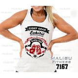 Camiseta Regata Feminina Boxe Fight Gear Musculação Ref7167 dccea5f9c71f4