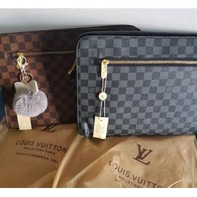 Portadocumentos Louis Vuitton Carpeta De Cuero Lv