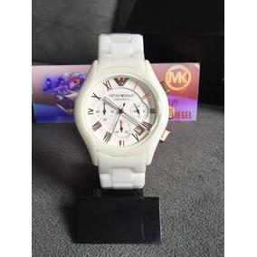 e530b607f29 Relogio Emporio Armani Branco E Preto - Relógios De Pulso no Mercado ...