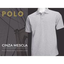Camisa Polo Camiseta Polo Blusa Polo Lisa Malha Varias Cores